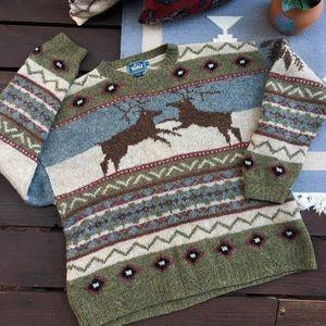 Vintage Chunky & Slouchy Knit Grandpa Sweater